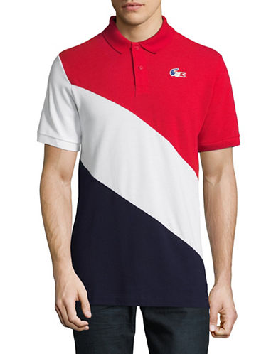 Lacoste Olympic Cotton Polo-RED/WHITE-Large