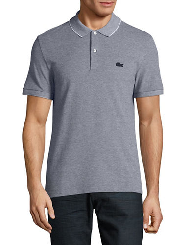 Lacoste Slim-Fit Cotton Pique Polo-NAVY BLUE-Large