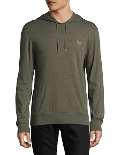 Lacoste Lightweight Hooded Long-Sleeve Tee-GREY-Small