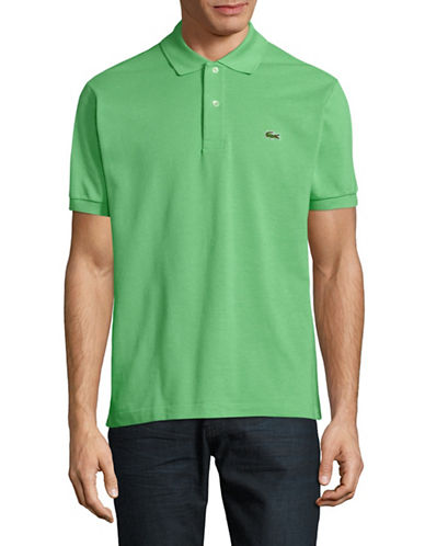 Lacoste Casual Cotton Polo-GREEN-Large