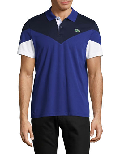 Lacoste Dry Pique Polo-NAVY-Large