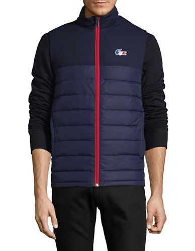 Lacoste Zip-Front Combo Puffer Vest-NAVY BLUE-54