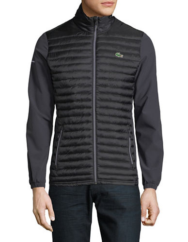 Lacoste Quilted Ripstop Jacket-GREY-50