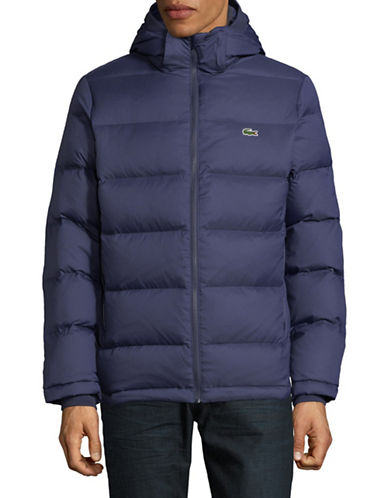 Lacoste Hooded Blouson Jacket-NAVY-48