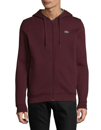 Lacoste Cashmere Zip-Up Hoodie-PURPLE-X-Large