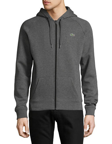 Lacoste Zip-Up Hoodie-GREY-Small 89500549_GREY_Small