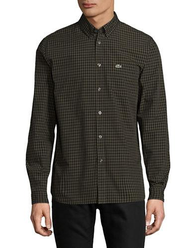 Lacoste Gingham Sport Shirt-BLACK-EU 44/US 17.5