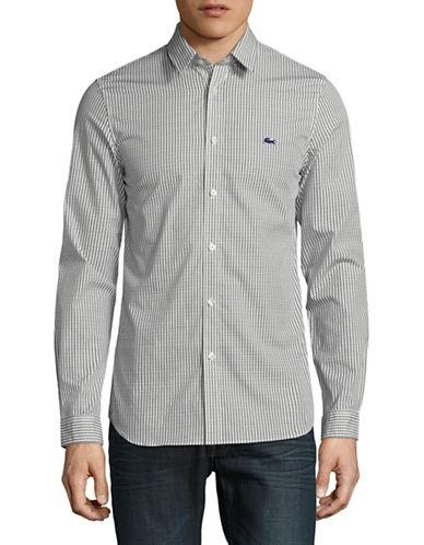 Lacoste Printed Poplin Sport Shirt-BLUE-EU 43/US 17