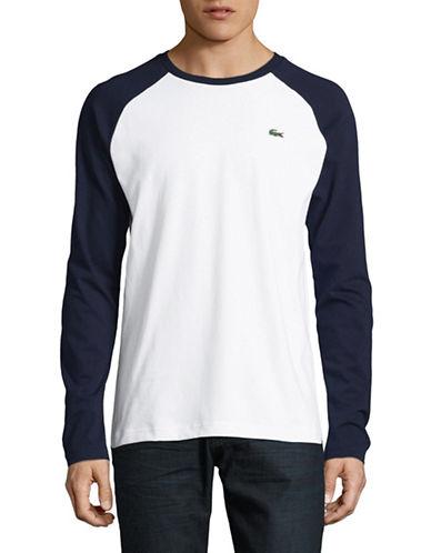 Lacoste Baseball T-Shirt-NAVY-Large