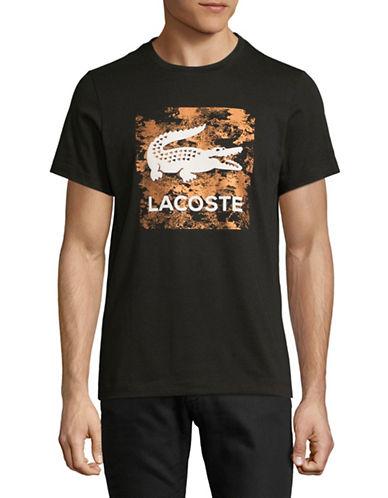 Lacoste Cotton Graphic Logo T-Shirt-BLACK WHITE-XX-Large 89471695_BLACK WHITE_XX-Large