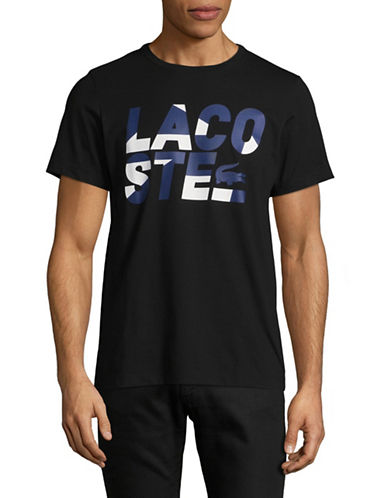 Lacoste Logo T-Shirt-BLACK-X-Large
