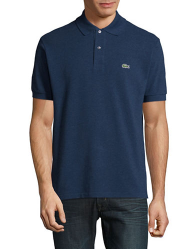 Lacoste Classic Polo Shirt-BLUE-Medium