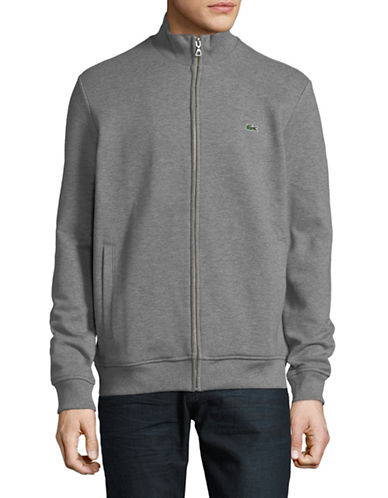 Lacoste Zip-Up Sweatshirt-GREY-Large 89914845_GREY_Large