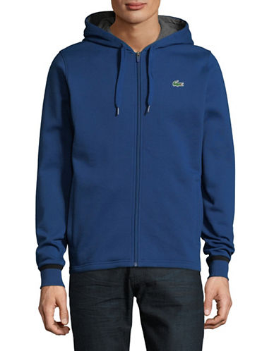 Lacoste Cotton-Blend Zip-Up Hoodie-BLUE-X-Large 89914871_BLUE_X-Large