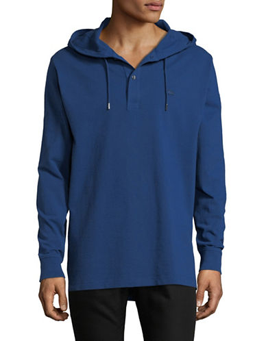 Lacoste Cotton Pullover Hoodie-BLUE-Medium 89914815_BLUE_Medium