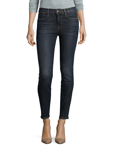 Frame Denim Skinny High-Waist Denim Jeans-BLUE-32