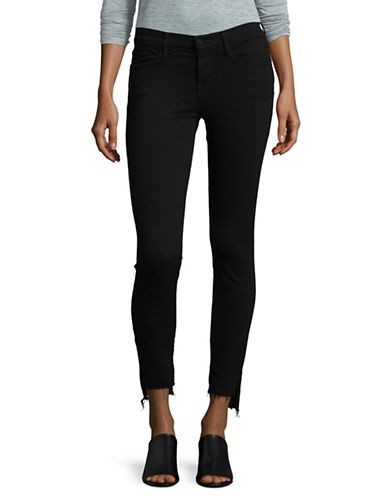 Frame Denim Le Skinny Step Hem Jeans-BLACK-32