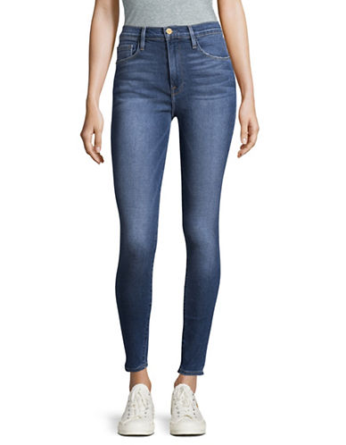 Frame Denim Ali High Rise Skinny Jeans-JUNIPER-29