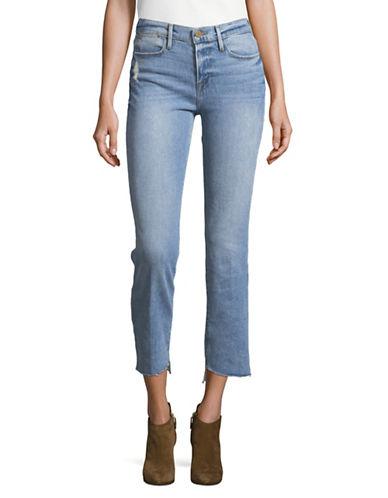 Frame High Waist Reverse Cascade Hem Jeans 89380814