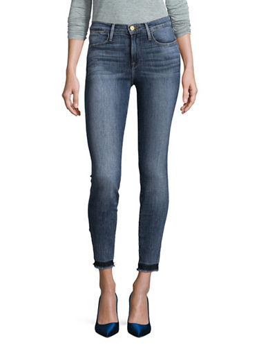 Frame Denim Skinny High-Waist Denim Jeans-BLUE-26