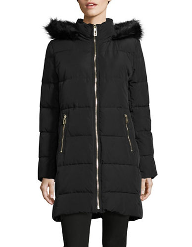 Ivanka Trump Quilted Walker Coat-BLACK-X-Small 88528885_BLACK_X-Small