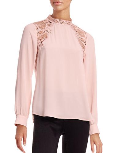 Ivanka Trump Lace-Trim Top-PINK-Medium 88616673_PINK_Medium