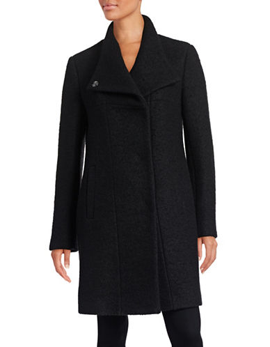 Kenneth Cole New York Pressed Wool-Blend Boucle Coat-BLACK-Small 88485962_BLACK_Small