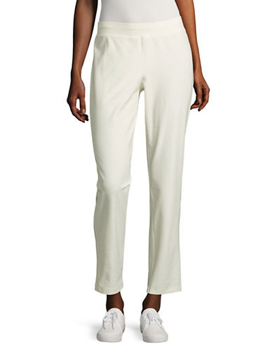 Eileen Fisher Slim Stretch Ankle Pants-BONE-X-Large