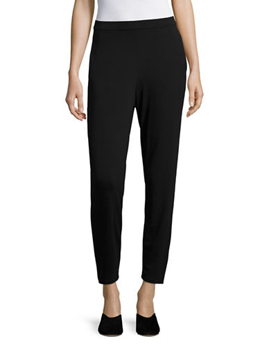 Eileen Fisher Stretch Pants-BLACK-X-Large 89044171_BLACK_X-Large