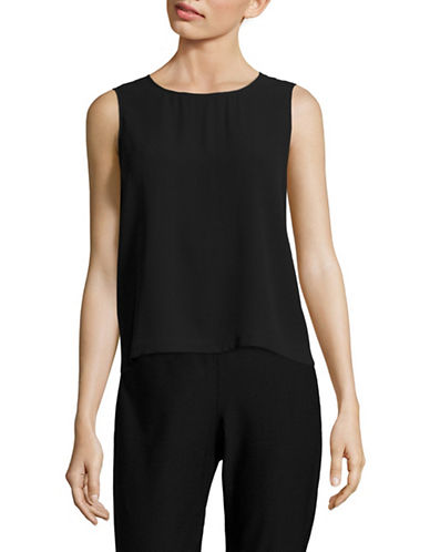 Eileen Fisher Silk Tank-BLACK-X-Small