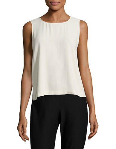 Eileen Fisher Silk Tank-BONE-X-Small