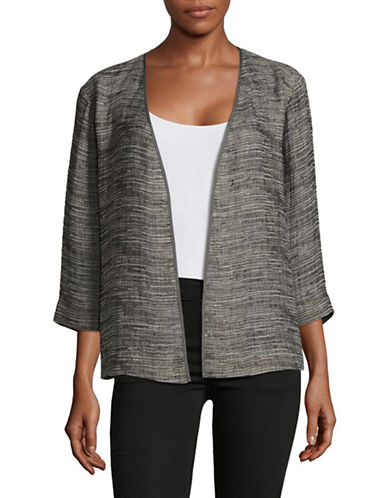 Eileen Fisher Kimono Jacket-BLACK-X-Small
