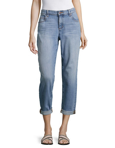Eileen Fisher Cropped Boyfriend Jeans-WHITE/GRAPHITE-6