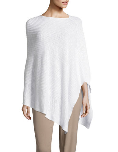 Eileen Fisher Organic Linen-Cotton Slub Poncho-WHITE-One Size 89043913_WHITE_One Size