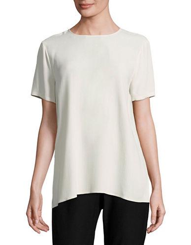 Eileen Fisher Silk Georgette Crepe Boxy Top-BONE-X-Large 89043696_BONE_X-Large