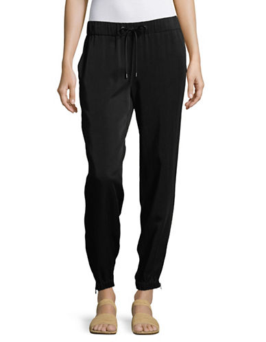 Eileen Fisher Drawstring Tapered Pants-BLACK-Large 89146030_BLACK_Large