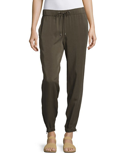 Eileen Fisher Drawstring Tapered Pants-BEIGE-Medium
