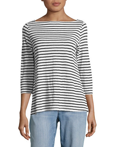 Eileen Fisher Striped Top-WHITE-X-Large 89044020_WHITE_X-Large