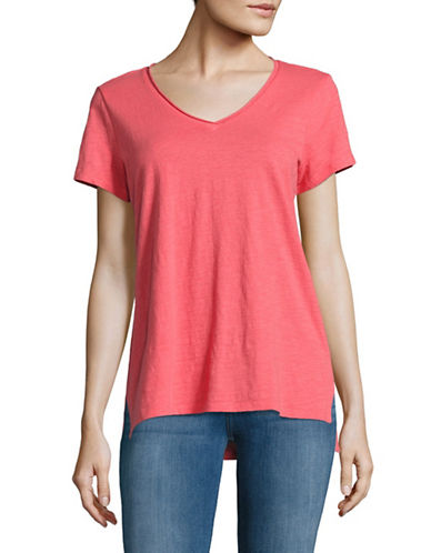 Eileen Fisher Organic Cotton Tee-PINK-X-Small 89044046_PINK_X-Small