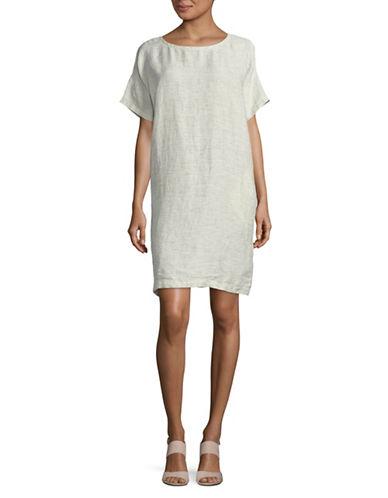 Eileen Fisher Linen Shift Dress-BONE-Large