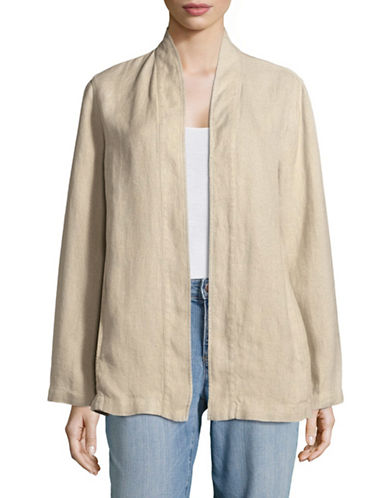 Eileen Fisher Kimono Linen Jacket-NATURAL-X-Small 89236428_NATURAL_X-Small