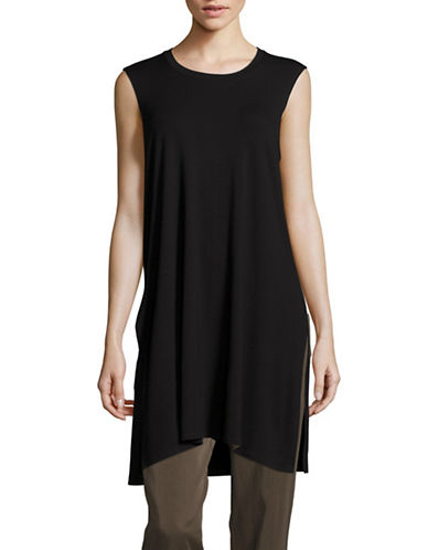 Eileen Fisher Jersey Tunic-BLACK-Large