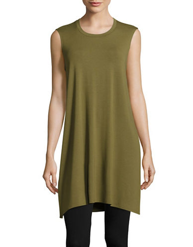 Eileen Fisher Jersey Tunic-OLIVE-X-Small