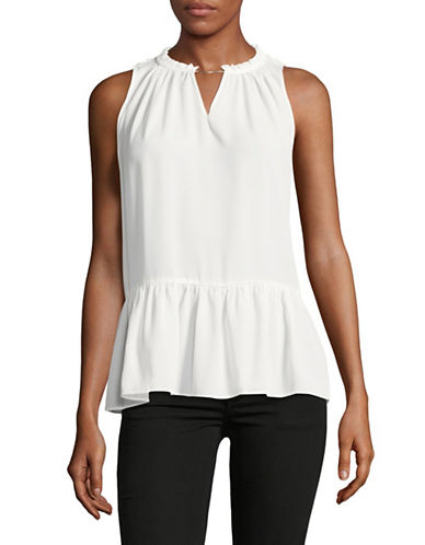 Eileen Fisher Bateau Neck Top-NATURAL-X-Small/Small