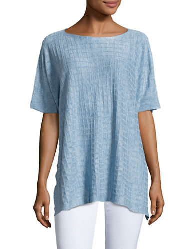 Eileen Fisher Bateau Neck Top-SKY-Small/Medium