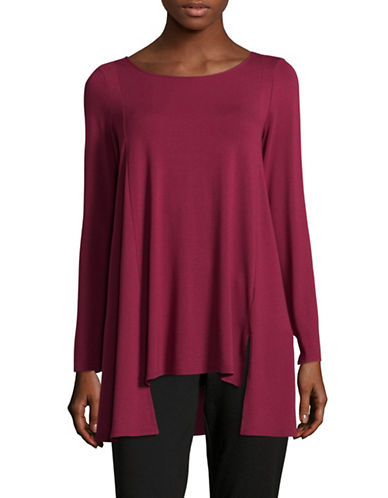 Eileen Fisher Round Neck Jersey Tunic-PURPLE-Small