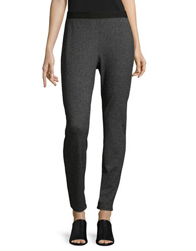 Eileen Fisher Herringbone Jeggings-GREY-Large