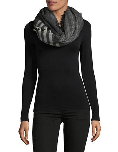 Eileen Fisher Wool-Blend Herringbone Scarf-GREY-One Size