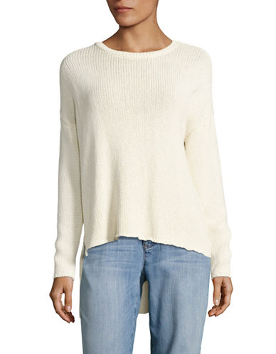 Eileen Fisher Organic-Cotton Blend Knit Sweater-SOFT WHITE-Small