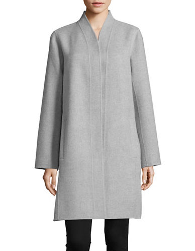 Eileen Fisher Kimono Long Coat-DARK PEARL-X-Large